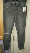 JOE'S DISTRESSED THE FINN SKINNY ANKLE  GREY JEANS SIZE  24  NWT