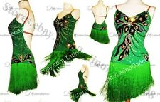 Latin Rhythm Rumba Dance Dress With high Quality stones M115A