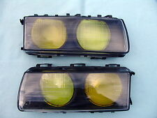 BMW E36 M3 GT YELLOW EURO ELLIPSOID HEADLIGHT LENSES, ORIGINAL BMW, BRAND NEW