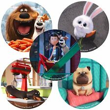 Secret Life of Pets Stickers x 5 - Birthday Party - Favours - Loot Ideas - Round