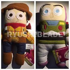 "NWT - Disney Toy Story BUZZ & WOODY 12"" Pook A Looz Plush Toy Set of 2"