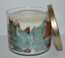 BATH BODY WORKS AUTUMN SKY SCENTED CANDLE 3 WICK 14.5OZ LARGE DECORATIVE CRISP
