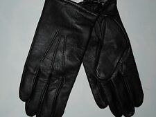 FOWNES men's Black very soft Leather dress GLOVES  size LARGE