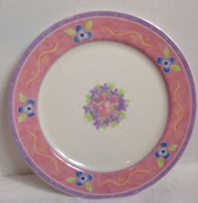 """Disney Pooh Bouquet Piglet Dinner Plate 11"""" Retired Yellow Blue Pink Green White"""