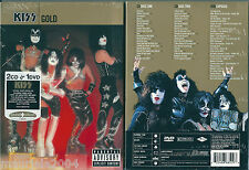 Kiss. Gold (2004) 2CD+DVD NUOVO Hotter Than Hell. Detroit Rock City. Radioactive
