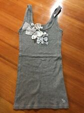 Abercrombie And Fitch Girls Gray Ribbed Bow Ribbon Tank Top Size XL