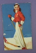 RED, WHITE and YOU - A Mutoscope Card - Litho USA - c1940s Pin Up Card