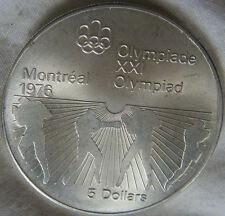 MED4882 - MEDAILLE 5$ CANADA XXI OLYMPIAD MONTREAL 1976 - EN ARGENT