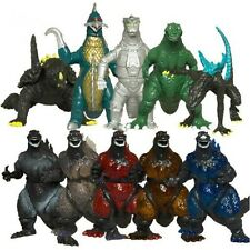 Godzilla Monsters Action Figure Toy Set of 10pc Figures Collection