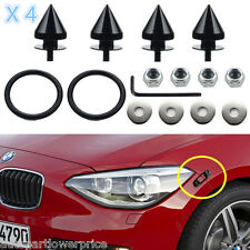 Black Spike Quick Release Fasteners Connect Bolt Car Bumper Hatch Fenders Kit