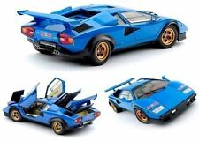 "1:18 KYOSHO LAMBORGHINI COUNTACH LP500S ""WALTER WOLF"" LIGHT BLUE 8323DZ"
