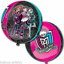 "16"" Official Monster High Birthday Party Globe Orb Ball Shape Foil Balloon"