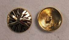 """Set of 6 JHB Intl Gold Round Metal Buttons Patina Basket Weave 7/8"""" or 22 m ly32"""