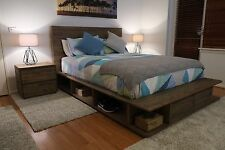 Stunning Reclaimed Timber Portsea Style Bed Frame King / Queen - NEW & BOXED