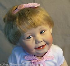 Ashton Drake Cute as a Button Porcelain Doll Barely Yours Collection COA in Box