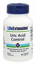 Life Extension Uric Acid Control - 60 Vegetarian Capsules - For Gout