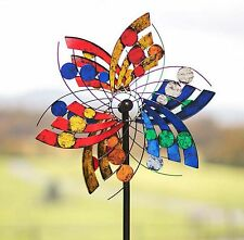 New Wind Spinner Garden Yard Windmill Decor Outdoor Metal Kinetic Art Sculpture