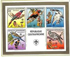 CENTRAL AFRICA BOY SCOUTS BIRDS SCOTT #888-93 PERF & IMPERF S/S STAMP SHEET 1988