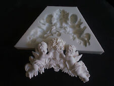 SILICONE RUBBER MOULD FOR SALE TO CREATE A CHERUBS AND FLOWERS MOULDING