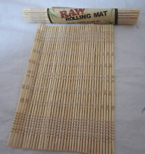 RAW 100% Bamboo Cigarette Roll up Rolling Mat Pocket King Size 8 x12cm B2GOF