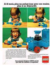 Publicité Advertising 1977 Jeu Jouets les grosses briques Lego