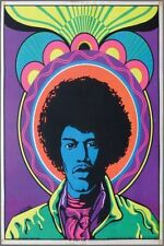 1970s HENDRIX the Black Sun blacklight poster replica magnet - new!