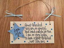 Personalised Gift Dad Daddy Grandparents Grandad plaque Father's Day Keepsake