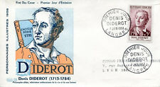 FRANCE FDC - 260 1168 1 DENIS DIDEROT LANGRES 7 6 1958