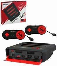Super RetroTRIO Console NES/SNES/Genesis 3 in 1 System Red/Black Retro Trio