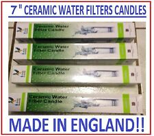 4 STERASYL CERAMIC IMPREGNATED CARBON REPLACEMENT WATER FILTERS CANDLES 7""