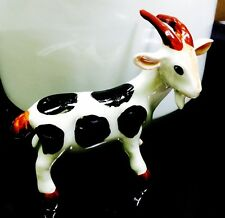 Goat Ceramic Tiny Figurine Farm Animal Hand Crafts Painted Art Collectible Gift