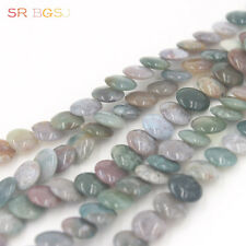 Natural 12mm Coin Indian Agate Gemstone Beads Jewelry Making Strand 15""