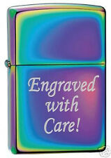 Zippo Custom Lighter Free Engraving, High Polished SPECTRUM 151 Pocket New