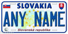Slovakia Any Name Personalized Novelty Car License Plate B01