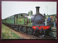 POSTCARD ISLE OF WIGHT RLY LOCO NO 24 'CALBOURNE' AT HAVEN STREET