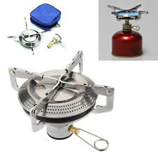Camp Backpacking Case Outdoor Stainless Steel Gas Stove Burner Picnic Hiking BBQ