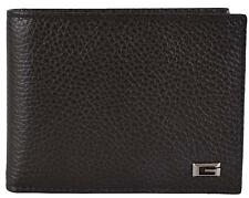 New Gucci Men's 150403 2038 Brown Leather G Logo Bifold Wallet W/Coin Pocket