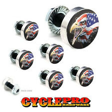 7 Pcs Billet Fairing Windshield Bolt Kit For Harley - EAGLE USA FLAG - 042