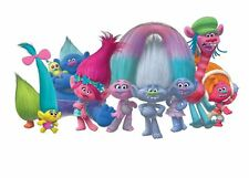 7x5FT Trolls Birthday Dance White Wall Custom Photo Background Backdrop Vinyl