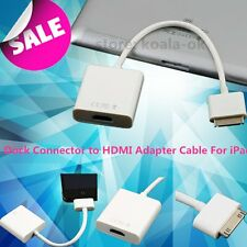 Dock Connector to HDMI Adapter Cable For Apple iPad2 3 4 iPhone3 4 4S iPod OY