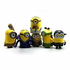 6pcs Cute Despicable Me Minions Movie Character Figures Doll Toy Gift Set New UK