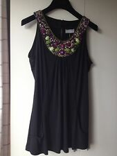 Wallis Beaded Black Women's Top size M 42Eur Party Evening