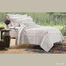 White Quilting Cotton Quilted Bedspread Coverlet Throw Rug-3pcs Queen King Size