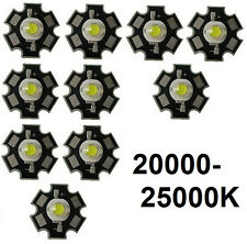 10x Hi-Power LED 3W Kaltweiß STAR 20000-25000K  200-230lm