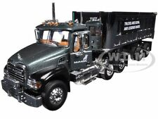 MACK GRANITE WITH CHROME 22' END DUMP TRAILER 1/64 FIRST GEAR 60-0296