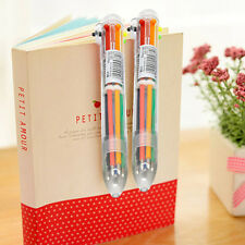 4Pcs/set Stationery 6 Colors in 1 Multicolor Ballpoint Pen Students Office