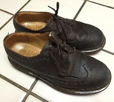 DR MARTENS _Brown Leather Wingtip Oxford lace up Shoes_5 UK_US Mens 6_Womens 7
