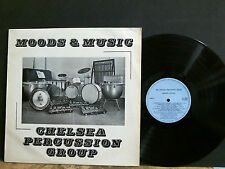 CHELSEA PERCUSSION GROUP  Moods And Music  LP  Private  Breaks Drums Beats