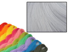 CYBERLOXSHOP PHANTASIA KANEKALON JUMBO BRAID LIGHT SMOKE GREY HAIR DREADS