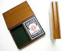 Card Magic Trick SUPER DECK SWITCHER - FT Wooden Book Holds two Decks